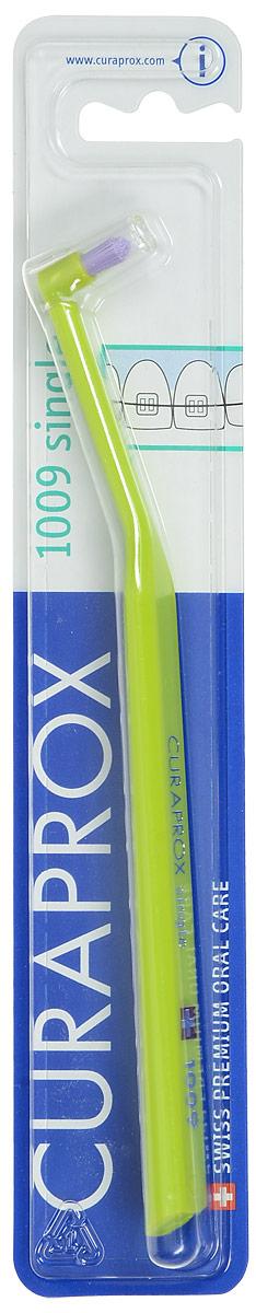 Curaprox CS 1009 Монопучковая щетка single & sulcular, цвет: салатовый, 9 мм26102025Curaprox CS 1009 Монопучковая щетка single & sulcular, цвет: салатовый, 9 мм