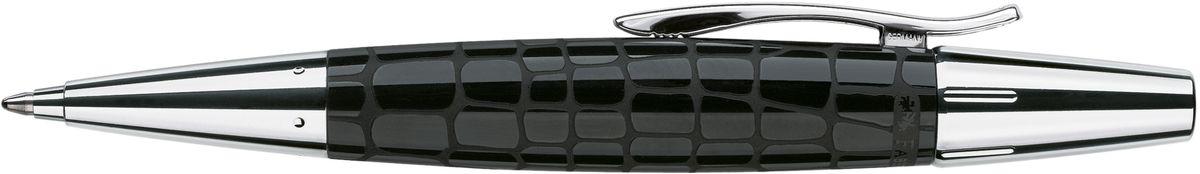 Шариковая ручка высшего качества черный корпус изготовлен из редкой полимерной смолы оба конца из хромированного шлифованного металла упругий клип поворотный механизм twist объемный черный стержень В  индивидуальная подарочная упаковка
