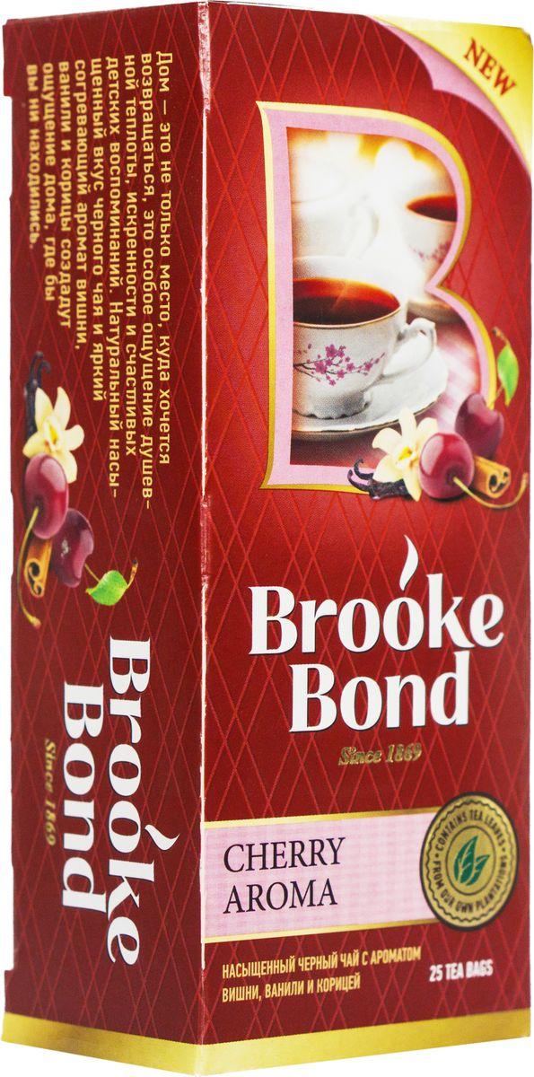 Brooke Bond Ароматная вишня черный чай в пакетиках, 25 шт0120710Пряный аромат вишни и корицы наполнит вас энергией летних дней и даст возможность найти нестандартное решение любой проблемы!