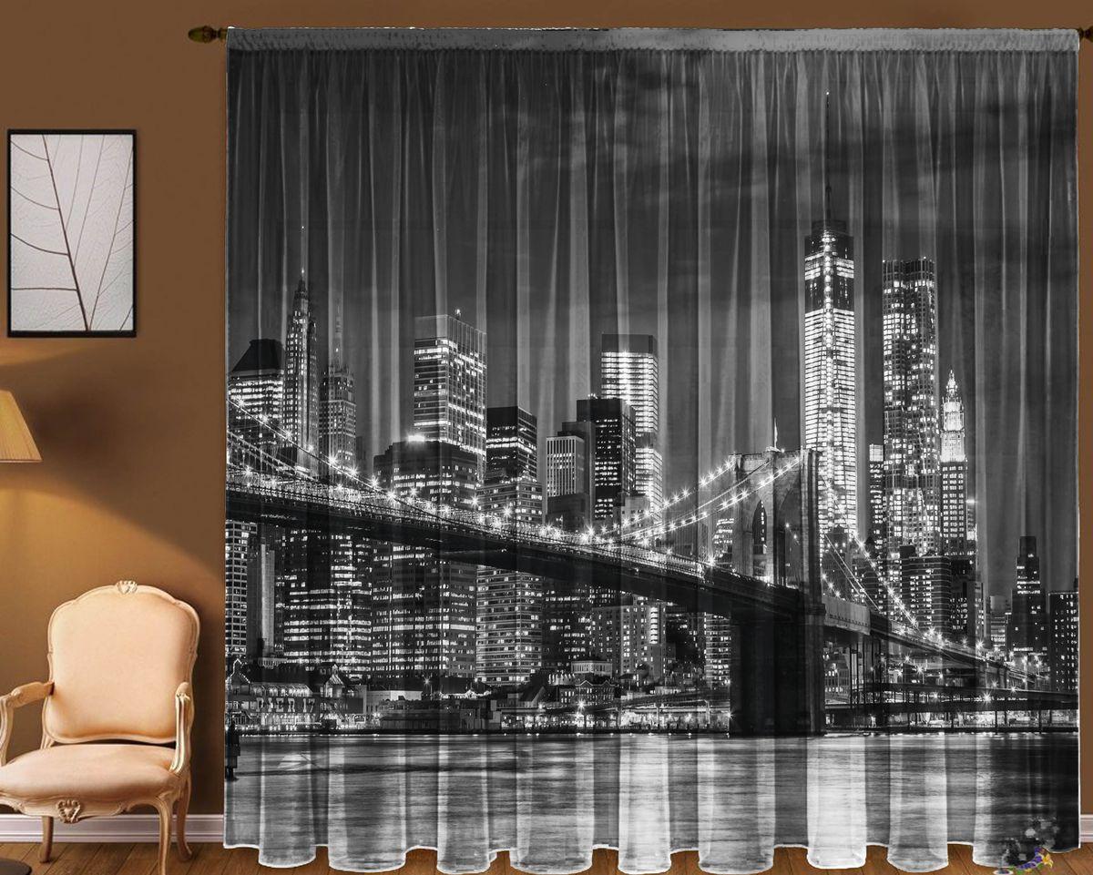Комплект фототюлей Zlata Korunka Бруклинский мост, на ленте, высота 270 см01787-20.000.00Фототюль - это новинка в мире фотоштор. Для производства используется шифоновая ткань высочайшего качества. В комплект входят 2 полотна (каждое - шириной 145 см х высотой 270 см), соединенных по верху одной шторной лентой.Рекомендации по уходу: бережная стирка при 30°С, деликатный отжим, отбеливание запрещено. Оттенок изделия может отличаться от представленного на сайте в силу особенностей цветопередачи фототехники и вашего монитора.
