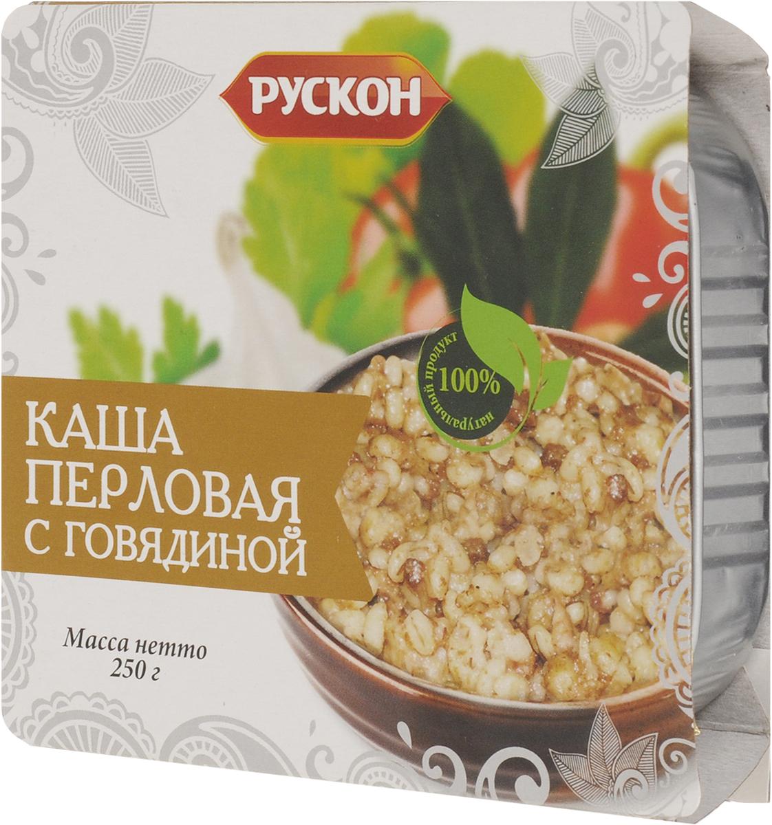 Рускон каша перловая с говядиной, 250 г