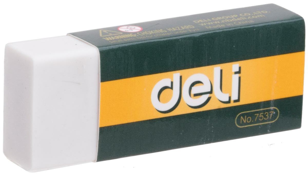 Deli Ластик цвет белый E7537E7537Ластик Deli имеет мягкую структуру, обладает высокой гибкостью, обеспечивая безупречное стирание.Ластик изготовлен из каучука и упакован в индивидуальную картонную упаковку.