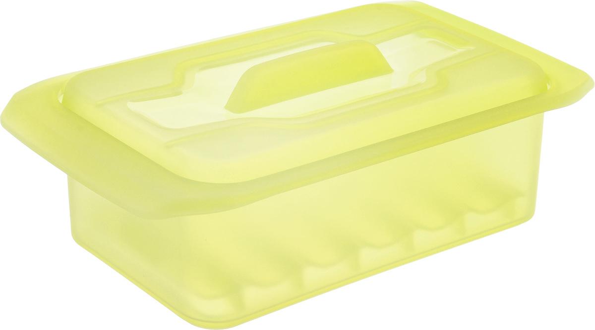 Контейнер-пароварка Tescoma Fusion Diet Revolution, силиконовый, цвет: желтый, 18 x 10 см. 638332115510Уникальная силиконовая пароварка с внутренней подставкой-решеткой и крышкой.Предназначена для приготовления низкокалорийных блюд на пару и в духовке.При приготовлении в посуде Fusion Diet Revolution внутри контейнеров создается интенсивный микроклимат, который придает блюдам ряд уникальных особенностей.Все предметы изготовлены из термостойкого силикона, выдерживают температуру до 230°С.Подходит для всех типов печей, в том числе микроволновой печи, а также для холодильника и морозильной камеры.Можно мыть в посудомоечной машине.В комплект входит книга с рецептами диетического питания. Размер контейнера: 18 x 10 см. Высота стенки контейнера: 7 см.