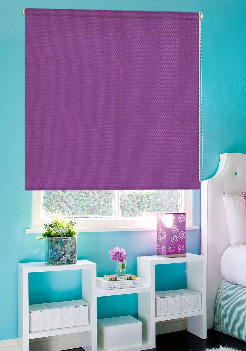 Штора рулонная Эскар Рояль, цвет: фиолетовый, ширина 130 см, высота 160 смS03301004Рулонными шторами можно оформлять окна как самостоятельно, так и использовать в комбинации с портьерами. Это поможет предотвратить выгорание дорогой ткани на солнце и соединит функционал рулонных с красотой навесных. Для изготовления рулонных штор используются ткани с различными рисунками и фактурой. Благодаря этому среди моделей рулонных штор для балконов и лоджий довольно большой выбор и вы всегда сможете подобрать для себя оптимальный вариант.Преимущества применения рулонных штор для пластиковых окон: - имеют прекрасный внешний вид: многообразие и фактурность материала изделия отлично смотрятся в любом интерьере;- многофункциональны: есть возможность подобрать шторы способные эффективно защитить комнату от солнца, при этом она не будет слишком темной. - Есть возможность осуществить быстрый монтаж.ВНИМАНИЕ! Размеры ширины изделия указаны по ширине ткани! Для выбора правильного размера необходимо учитывать – ткань должна закрывать оконное стекло на 3 см. Однотонная палитра - будет идеально гармонировать в любом интерьере, сочетаться с обоями, мебелью и другими функциональными или стилевыми элементами.