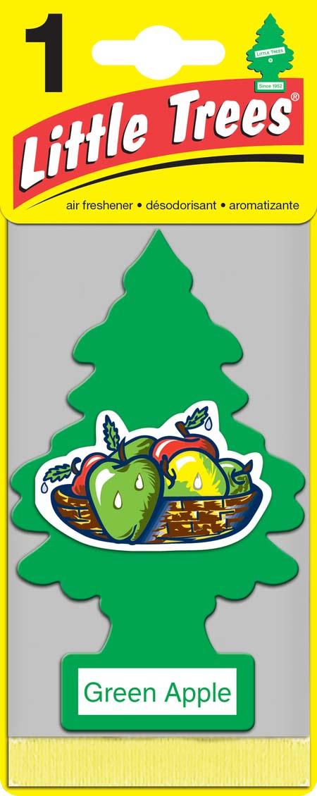 Освежитель Car-Freshner Елочка Зеленое яблокоRC-100BPCОригинальный ароматизатор Освежитель Car-Freshner Little Trees сделан из высококапилярного качественного картона - что позволяет долго сохранять аромат и насыщенность красок изображения. Уникален по эффективности действия, насыщенности и стойкости запахаПовесьте ароматизатор в любом удобном месте - в салоне автомобиля, дома или в офисе - и получайте удовольствие!Характеристики: Материал: 100% спрессованная целлюлоза, полимеры, нетоксичные отдушки.Размер упаковки: 19 см х 7,5 см х 1 см.
