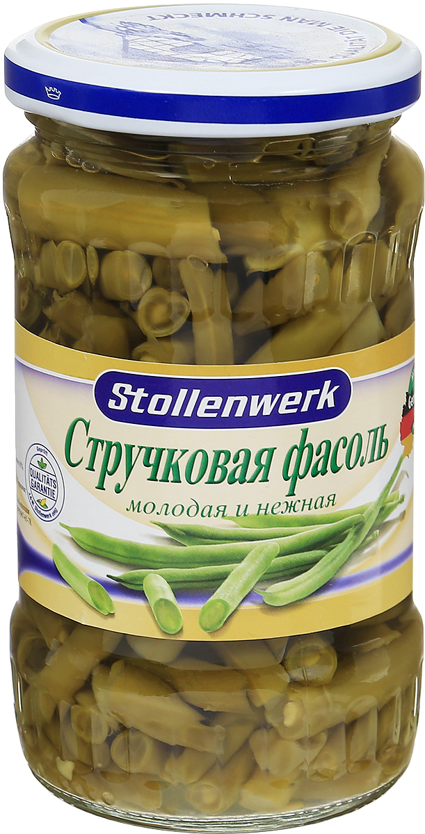 Stollenwerk стручковая фасоль молодая и нежная, 330 г87687Молодая и нежная стручковая фасоль Stollenwerk выступает необходимым ингредиентом многих кушаний: закусок, салатов, супов, а также она может использоваться в качестве отличного гарнира к мясным блюдам и даже паштету.Уважаемые клиенты! Обращаем ваше внимание, что полный перечень состава продукта представлен на дополнительном изображении.