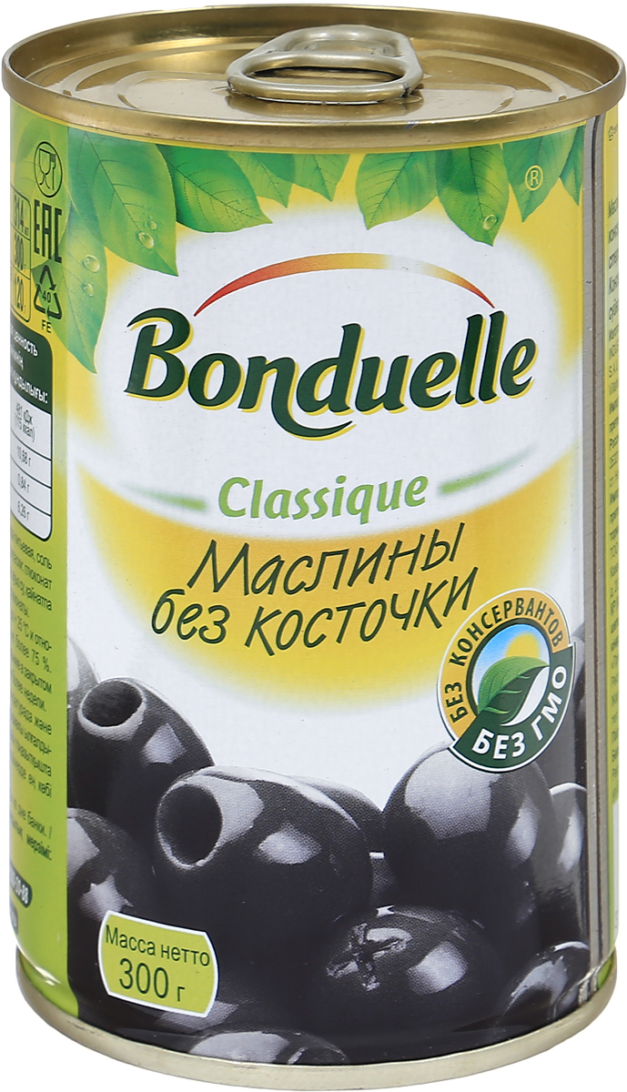 Bonduelle маслины без косточки, 300 г0120710Маленькое солнечное испанское счастье - так можно описать вкус маслин Bonduelle. Поэтому без них никак не обойтись в приготовлении вкусных и изящных закусок, особенно канапе и тарталеток. В банку попадают только тщательно отобранные зрелые плоды со сбалансированным вкусом.Уважаемые клиенты! Обращаем ваше внимание, что полный перечень состава продукта представлен на дополнительном изображении.