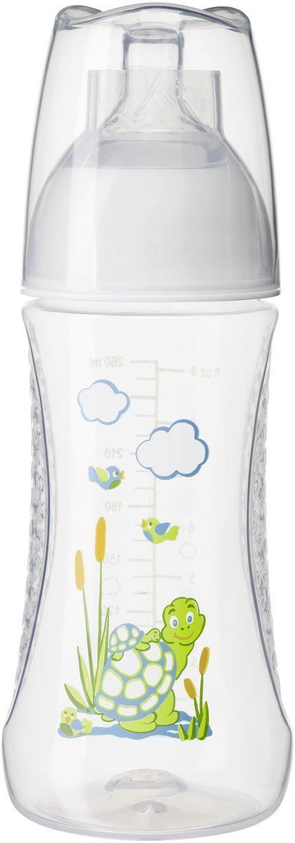 Bibi Бутылочка для кормления с антиколиковой силиконовой соской Happiness Play with Us от 0 месяцев 260 мл бутылочки для кормления bibi