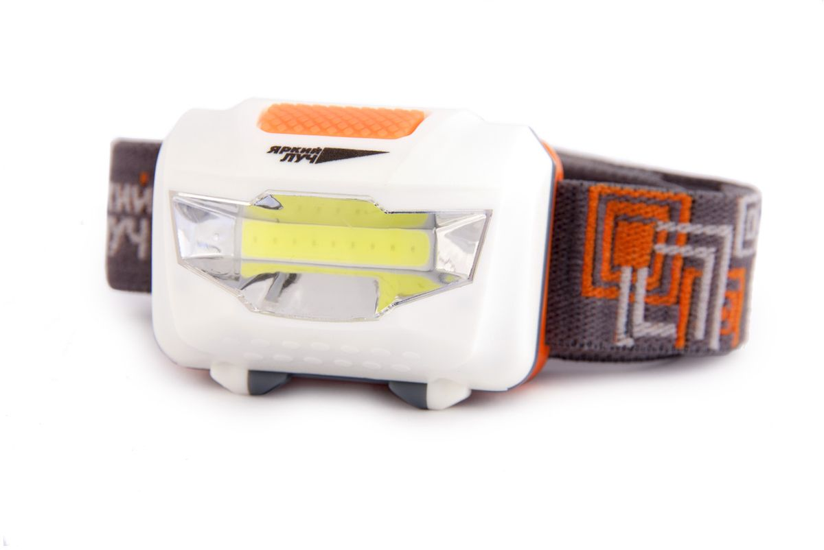 Фонарь налобный Яркий Луч LH-180 COB67742Налобный светодиодный фонарь LH-180 Cob.Новый мощный светодиод cob обеспечит световым потоком в 180 люмен и мягким заливным нейтральным светом.Большая кнопка включения позволит переключать режимы фонаря даже в перчатках.Два режима работы: 30% – 100%. Легкая замена элементов питания.Фонарь работает на 3 батарейках ААА (в комплект не входят).Время работы в режиме 100% – 4 часа.Крепкий корпус из ABS-пластика выдерживает падение с высоты 1 метр.Компактный размер, легкий вес, крепкий корпус – отличный налобный фонарь!