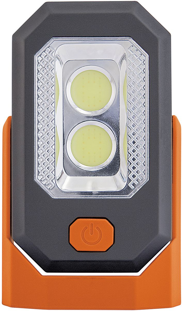 Фонарь кемпинговый Яркий Луч Оптимус-pocketKOC-H19-LEDКемпинговый фонарьЯркий Луч Оптимус-pocket имеет:- мощный светодиод 0,5 Вт -для направленного света;- 2 ярких Cob светодиода для местного освещения;- 2 режима работы: прожектр, кемпинг.Прожектр: светодиод мощностью (0,5 Вт.) обеспечит направленным светом дальнего действия, время работы - до 12 часов. Кемпинг: 2 светодиода Cob мощностью (3 Вт.) рассеянный свет предназначен для местного освещения, время работы – до 8 часов. Корпус изделия выполнен из пластика. Фонарь снабжен магнитом, благодаря которому, его можно разместить на металлической поверхности. Также имеется складывающийся крючок для подвешивания.Элементы питания батарейки: 3 х ААА (R03), в комплект не входят.