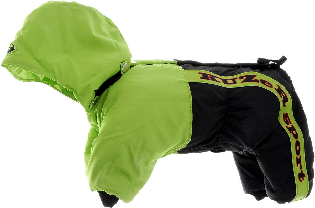 Комбинезон для собак Kuzer-Moda  Пилот , утепленный, для мальчика, цвет: черный, салатовый. Размер XS - Одежда, обувь, украшения