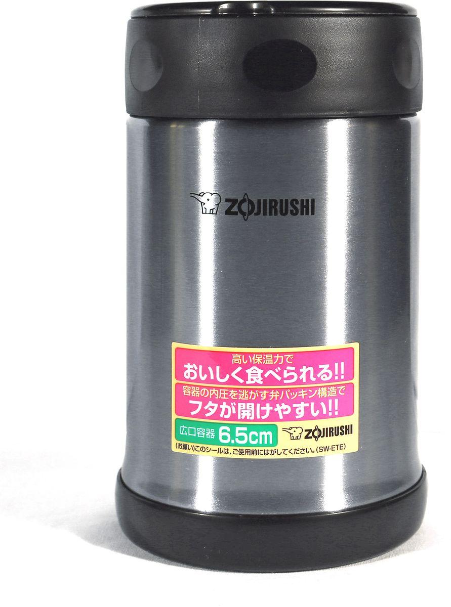 Термоконтейнер Zojirushi, цвет: черный металлик, 0,5 лSW-ETE 50-XAУдобный термоконтейнер Zojirushi с широким горлом для ланча предназначен для транспортировки и хранения первых и вторых блюд. Благодаря тефлоновому покрытию еда не имеет прямого контакта с металлом, сохраняя свой изначальный вкус. Ориентировочное значение температуры для полностью заполненного термоса при начальной температуре жидкости в термосе 95 °C и температуре окружающего воздуха 20 °C через 6 часов: 64 °C. За легкость и прочность, сочетающиеся с великолепным сохранением температуры находящихся внутри продуктов, их по достоинству оценили любители активного отдыха. Такой термоконтейнер будет практичным решением для тех, кто привык брать обед на работу или для ребенка, который может взять горячее питание в школу.В комплект входит удобная и надежная сумка для переноски и хранения.Объем: 0,5 л.Диаметр максимальный: 90 мм.Высота: 150 мм.Вес: 0,32кг.Вес с сумкой: 0,4 кг.