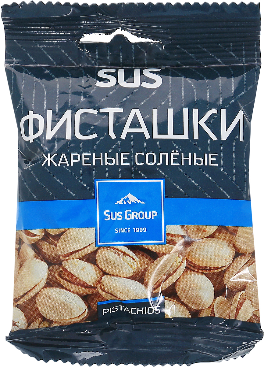 Сус фисташки жареные соленые, 40 гU920456В фисташках, в отличие от других орехов, наиболее рационально сочетаются множество различных полезных витаминов и минеральных веществ.