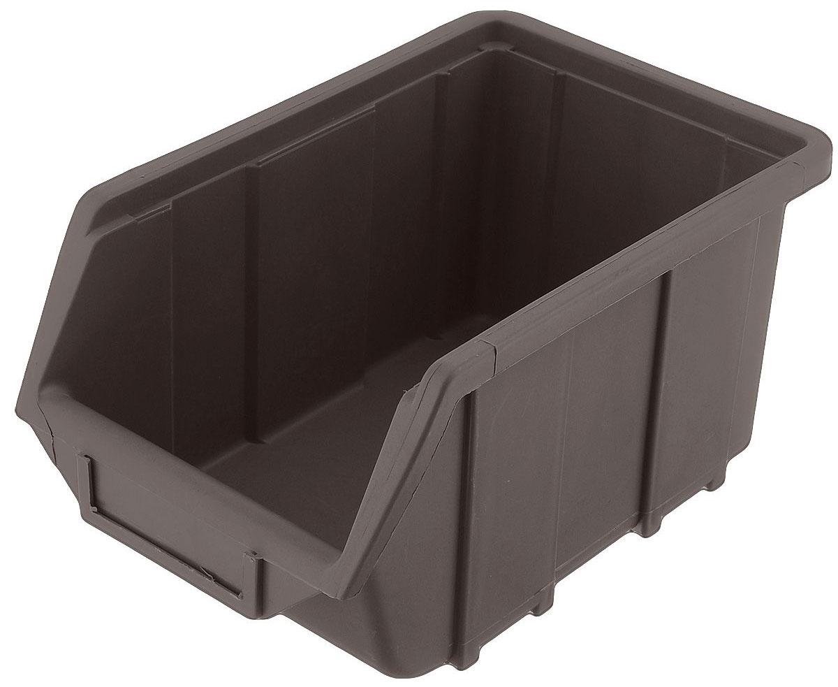 Ящик для метизов Альтернатива, цвет: коричневый, 25 х 16 х 13 см80625Ящик для метизов Альтернатива выполнен из ударопрочного пластика и отлично подойдет для хранения метизов, деталей, комплектующих, автозапчастей и прочих мелких изделий. Прекрасно собирается в стеллажи и полки до тридцати единиц в высоту, в зависимости от нагрузки на единицу.