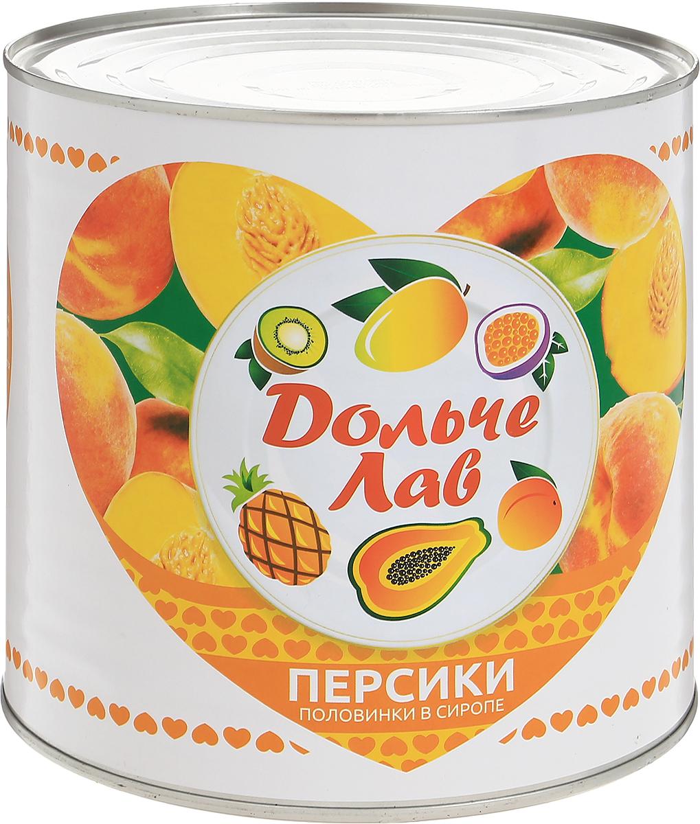Дольче Лав персики половинками в сиропе, 2,65 л0120710Персики в легком сиропе (половинки) Дольче Лав - это вкусное лакомство, обладающее не только высокой питательной ценностью, но и некоторыми полезными свойствами свежих плодов. Несмотря на консервацию в сахарном сиропе, персики обладают крайне низкой калорийностью, быстро насыщают и совсем не вредят фигуре. В состав входят только отборные персики, собранные на пике зрелости, и натуральный персиковый сок.