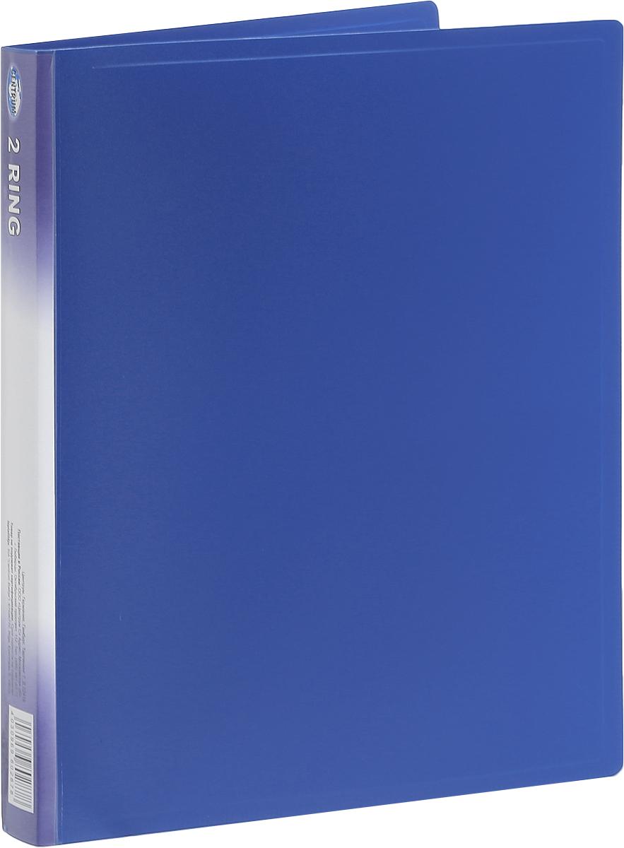 Centrum Папка на 2 кольцах цвет синий80287_синийПапка на кольцах Centrum - это удобный и практичный офисный инструмент, предназначенный для хранения и транспортировки рабочих бумаг и документов формата А4.Папка изготовлена из непрозрачного плотного пластика и имеет прочные металлические кольца, которые надежно закрепят документы на месте. Также папка оснащена внутренним прозрачным карманом.Папка Сentrum - это незаменимый атрибут для студента, школьника, офисного работника. Такая папка надежно сохранит ваши документы и сбережет их от повреждений, пыли и влаги.