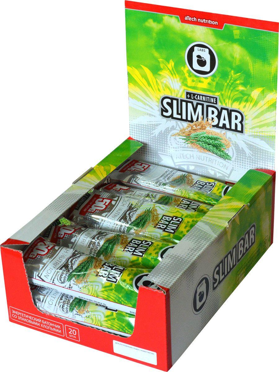 Спортивный батончик aTech Nutrition  Slim Bar , 50 г, 20 шт - Спортивное питание