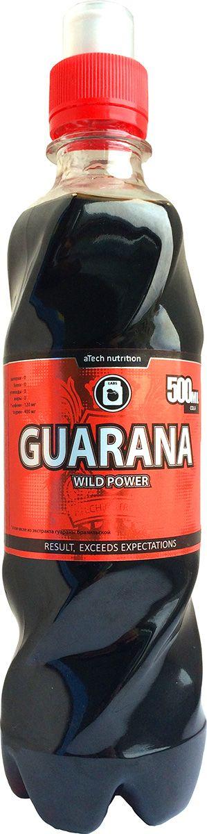 Энергетический напиток aTech Nutrition Guarana Wild Power, кола, 500 млRUC-01Энергетический напиток aTech Nutrition Guarana Wild Power утолит жажду и взбодрит вашу нервную систему перед предстоящими физическими или умственными нагрузками.В отличии от газированных напитков, Wild Power не содержит сахара и приготовлен на натуральных ингредиентах, содержит гуарану бразильскую, таурин и минимум калорий.Состав: вода подготовленная, экстракт гуараны, кофеин, таурин, регулятор кислотности (яблочная и лимонная кислота), консервант (сорбат калия, бензоат натрия), натуральный пищевой краситель кармин, подсластитель сукралоза.
