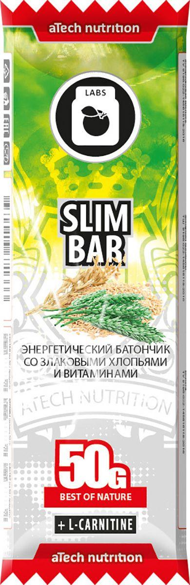Спортивный батончик aTech Nutrition Slim Bar, 50 г. 46300196713334630019671333Батончик aTech Nutrition Slim Bar с содержанием л-карнитина, отлично подходит для людей, ведущих активный образ жизни и следящих за собственным весом.Важным свойством л-карнитина является усиление обмена веществ и превращение жирных кислот в энергию, увеличение работоспособности и заряд отличным настроением на весь день.Находясь в автомобильной пробке или офисе, на отдыхе с друзьями или на парах, на велопрогулке или в спортзале - для восполнения энергии при отсутствии возможности полноценного приема пищи или между ними воспользуйся батончиками от aTech nutrition.В состав батончиков от aTech nutrition входят витамины и минералы, различные виды протеина, клетчатка и особые активные компоненты. Важно, что они предназначены не только для спортсменов, а для всех людей, следящих за своим питанием.Состав: хлопья ржаные, хлопья ячменные, хлопья овсяные, патока крахмальная карамельная, глазурь кондитерская белая (заменитель какао- масла, сахар, сухое молоко, лецитин), изюм, абрикос сушенный, ананас цукаты (ананас, сахар), л-карнитин, фруктоза, витаминный премикс 9-14, аскорбиновая кислота.