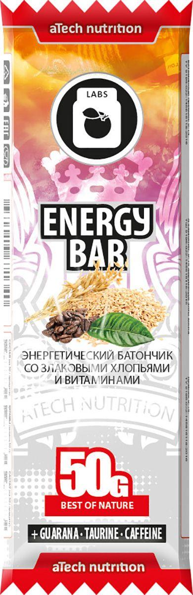 Спортивный батончик aTech Nutrition Energy Bar, гуарана, 50 г4630019671340Батончик aTech Nutrition Energy Bar, изготовленный с содержанием гуараны и таурина, станет отличным заменителем кофе и наделит вас дополнительной энергией как в разгар рабочего или учебного дня, так и перед тренировкой или просто разбудит ваш сонный мозг.Плод дикой гуараны широко известен своими полезными свойствами и высоким содержанием натуральных микроэлементов и витаминов.Особая его популярность обусловлена высоким содержанием настоящего кофеина, который применяется в спорте для восстановления сил и при похудении, так как, ускоряя обмен веществ он помогает сжигать лишние жиры и способствует снижению аппетита. В помощь кофеину и для усиления его воздействия применяется таурин, который улучшает концентрацию внимания и память, благотворно влияет на сосуды и укрепляет иммунитет.Находясь в автомобильной пробке или офисе, на отдыхе с друзьями или на парах, на велопрогулке или в спортзале - для восполнения энергии при отсутствии возможности полноценного приема пищи или между ними воспользуйся батончиками от aTech nutrition.В состав батончиков от aTech nutrition входят витамины и минералы, различные виды протеина, клетчатка и особые активные компоненты. Важно, что они предназначены не только для спортсменов, а для всех людей, следящих за своим питанием.В ассортименте выпускаемой нами продукции присутствуют Protein bar с повышенным содержанием сывороточных и молочных белков, Slim bar с содержанием аминокислоты л-карнитин и Energy bar с гуараной и таурином.Состав: хлопья ржаные, хлопья ячменные, хлопья овсяные, патока крахмальная карамельная, глазурь кондитерская белая (заменитель какао-масла, сахар, сухое молоко, лецитин), изюм, абрикос сушенный, ананас цукаты (ананас, сахар), фруктоза, экстракт гуараны, таурин, кофеин, витаминный премикс 9-14.