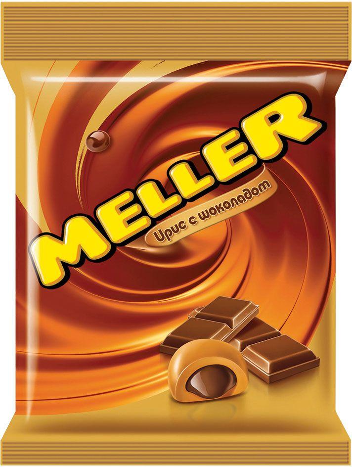 Meller ирис с шоколадом, 100 г0120710Ирис Meller молочный шоколад изготовлен на основе натуральных ингредиентов с использованием сгущенного молока и какао. Основную часть конфеты составляет жевательный ирис, а в ее сердцевине – измельченный молочный шоколад, который эффектно дополняет нежный сливочный вкус. Конфеты можно брать собой повсюду благодаря компактным размерам упаковки.