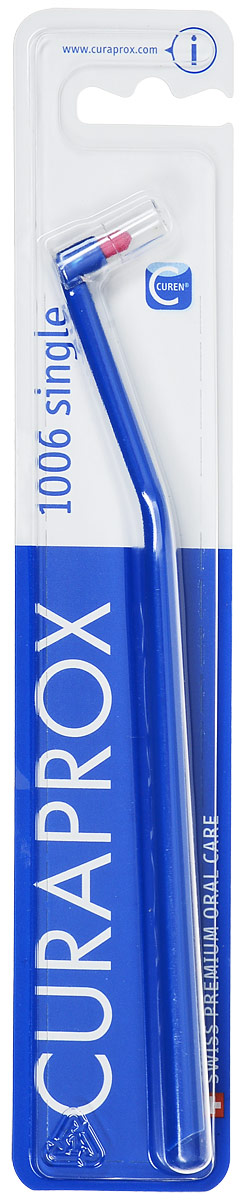 """Curaprox CS1006 Монопучковая щетка Single & Sulcular, цвет: синий, 6 мм03-04-016_зеленыйМонопучковая щетка CURAPROX CS """"Single"""" для очистки труднодоступных поверхностей зубов и зубодесневой борозды. Длина пучка 6 мм. Подходит для очистки отдельно стоящих зубов, ретромолярной зоны (за 7,8 молярами). Благодаря закругленной щетине, щетка легко адаптируется к анатомии десневого края, не оказывает давления."""