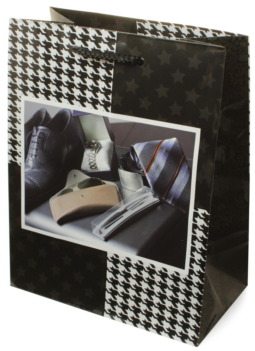 Пакет подарочный МегаМАГ Мужская тематика, 18 х 22,7 х 10 см. H2. 2173 M19201Пакет подарочный ламинированный. Ручки-шнурки.Размер: 18 х 22,7 х10 см.
