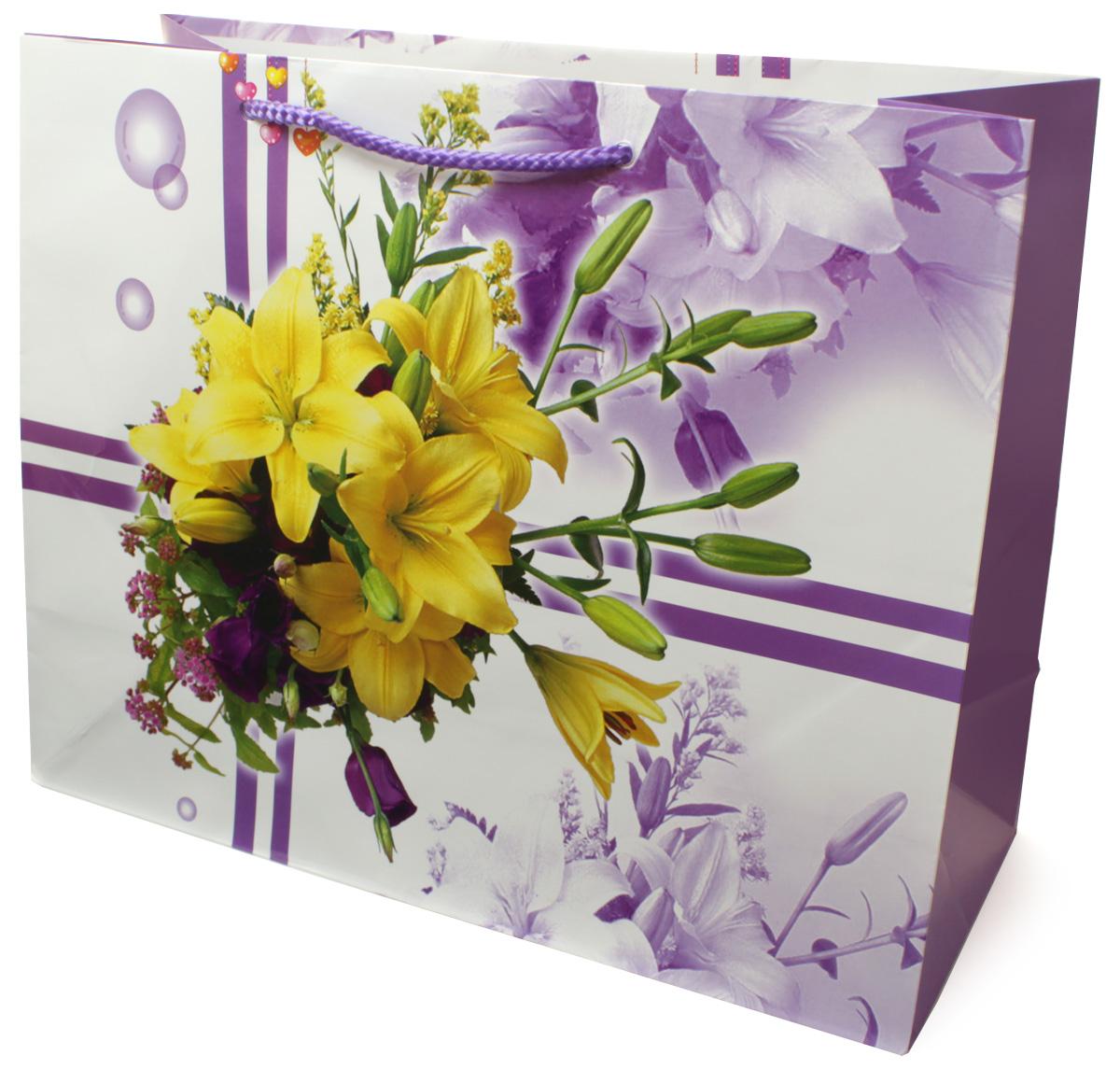 Пакет подарочный МегаМАГ Цветы, 32,7 х 26,4 х 13,6 см. 813 LHБумага23Подарочный пакет МегаМАГ, изготовленный из плотной ламинированной бумаги, станет незаменимым дополнением к выбранному подарку. Для удобной переноски на пакете имеются ручки-шнурки.Подарок, преподнесенный в оригинальной упаковке, всегда будет самым эффектным и запоминающимся. Окружите близких людей вниманием и заботой, вручив презент в нарядном, праздничном оформлении.