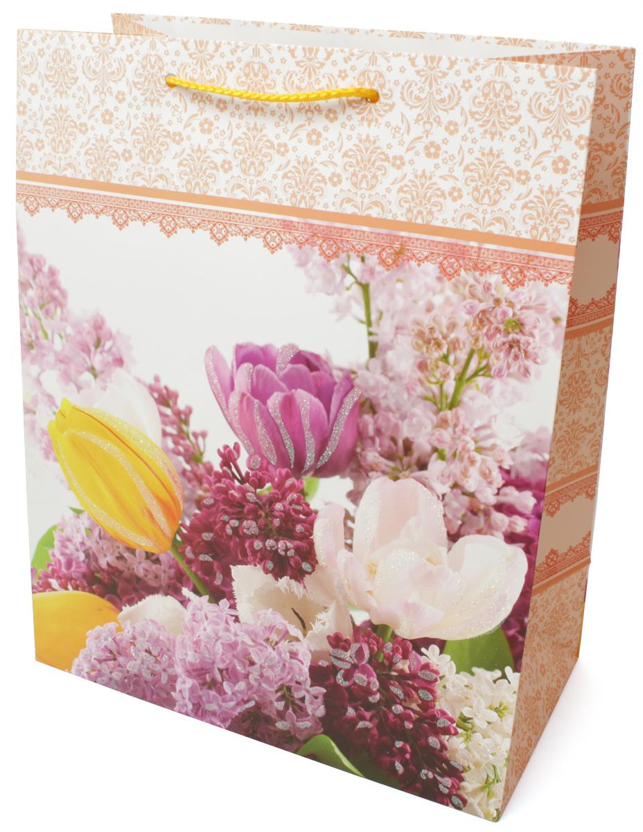 Пакет подарочный МегаМАГ Premium. Цветы, 26,4 х 32,7 х 13,6 см. 3036 LPSS 4041Подарочный пакет МегаМАГ, изготовленный из плотной ламинированной бумаги, станет незаменимым дополнением к выбранному подарку. Для удобной переноски на пакете имеются ручки-шнурки.Подарок, преподнесенный в оригинальной упаковке, всегда будет самым эффектным и запоминающимся. Окружите близких людей вниманием и заботой, вручив презент в нарядном, праздничном оформлении.