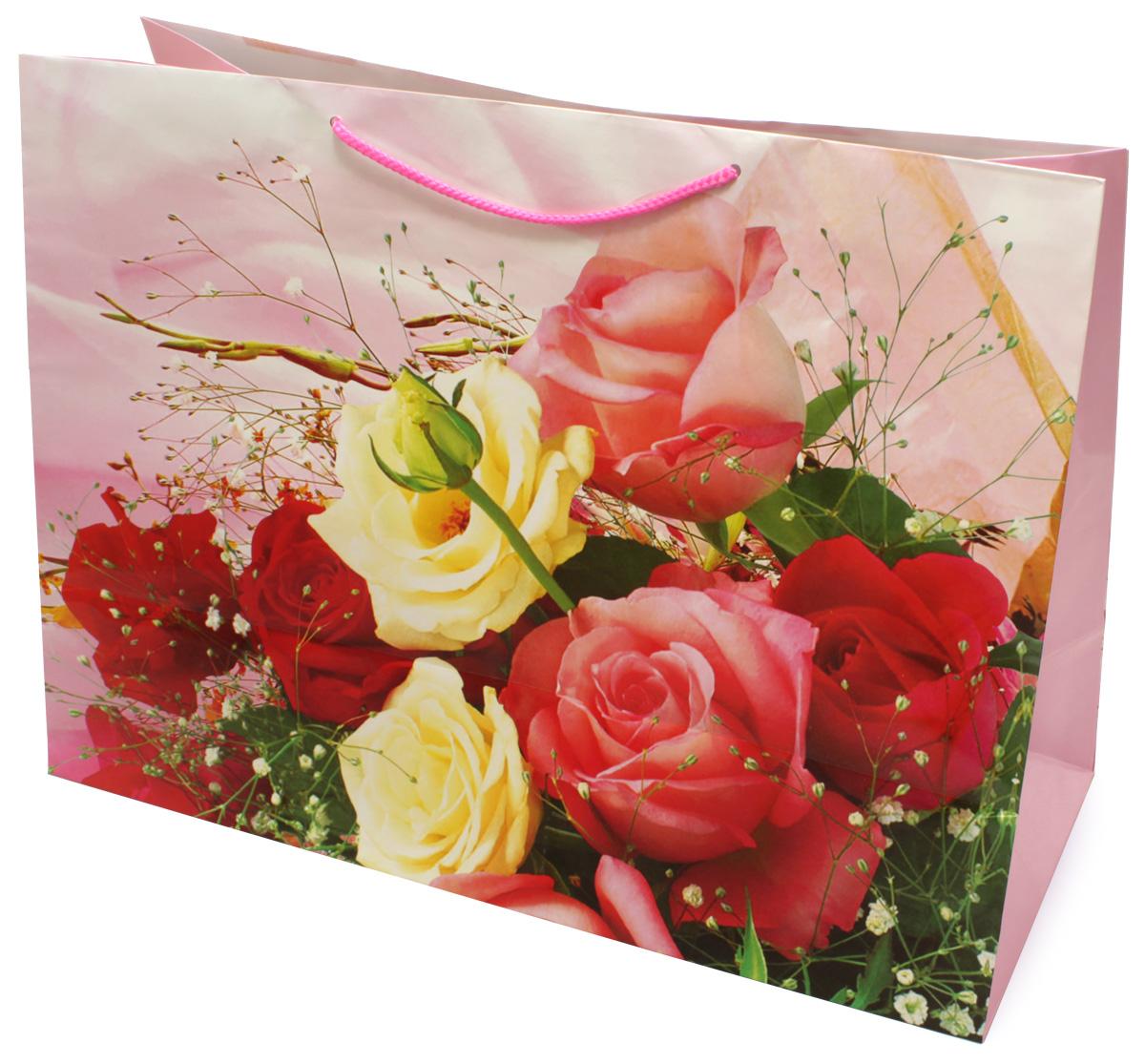 Пакет подарочный МегаМАГ Mix. Цветы, 56 х 41 х 24 см. 903/904 XXLH785 MLПодарочный пакет МегаМАГ, изготовленный из плотной ламинированной бумаги, станет незаменимым дополнением к выбранному подарку. Для удобной переноски на пакете имеются ручки-шнурки.Подарок, преподнесенный в оригинальной упаковке, всегда будет самым эффектным и запоминающимся. Окружите близких людей вниманием и заботой, вручив презент в нарядном, праздничном оформлении.