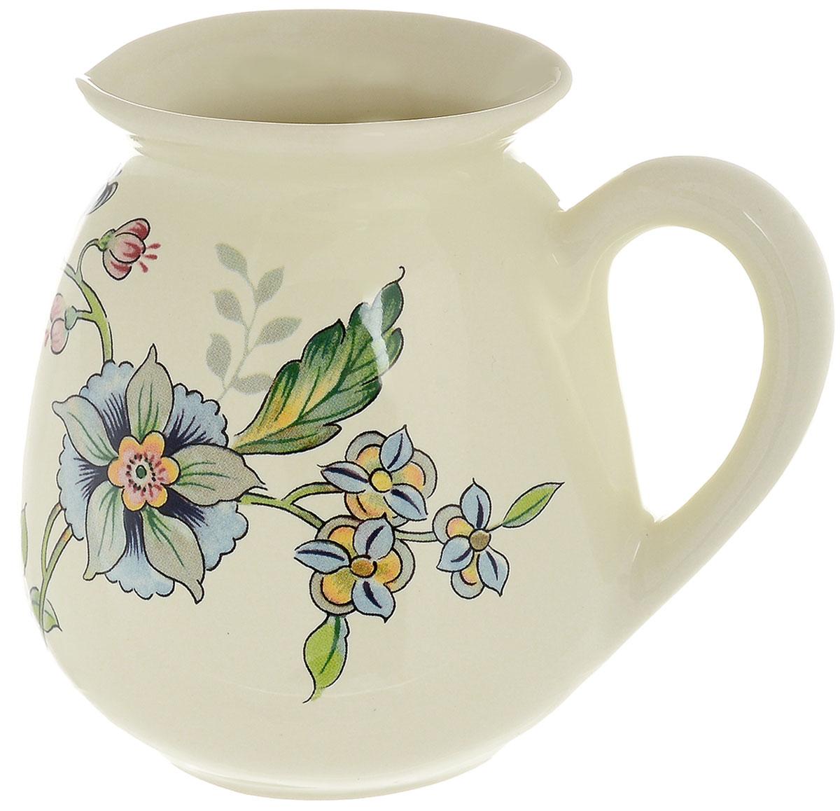 Молочник Nuova Cer Прованс, 350 мл115510Молочник Nuova Cer Провансвыполнен из высококачественной керамики. Изделие станет незаменимым аксессуаром для тех, кто любит пить кофе или чай с добавлением молока.Дизайн молочника придется по вкусу и ценителям классики, и тем, кто предпочитает утонченность и изысканность. Также молочник послужит приятным и практичным подарком. Изделие нельзя мыть в посудомоечной машине.Диаметр молочника по верхнему краю: 7 см.Высота молочника: 11 см.