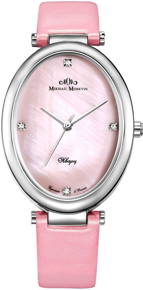 Часы наручные женские Mikhail Moskvin Каприз, цвет: розовый. 1213A1L2BM8434-58AEНаручные кварцевые часы Mikhail Moskvin выполнены из высококачественных материалов. Корпус изготовлен из высококачественного металла. Ремешок, выполненный из искусственной кожи зернистой текстуры, застегивается с помощью пряжки. Часы оснащены минеральным, устойчивым к царапинам, стеклом с сапфировым напылением и задней крышкой из гипоаллергенной нержавеющей стали.