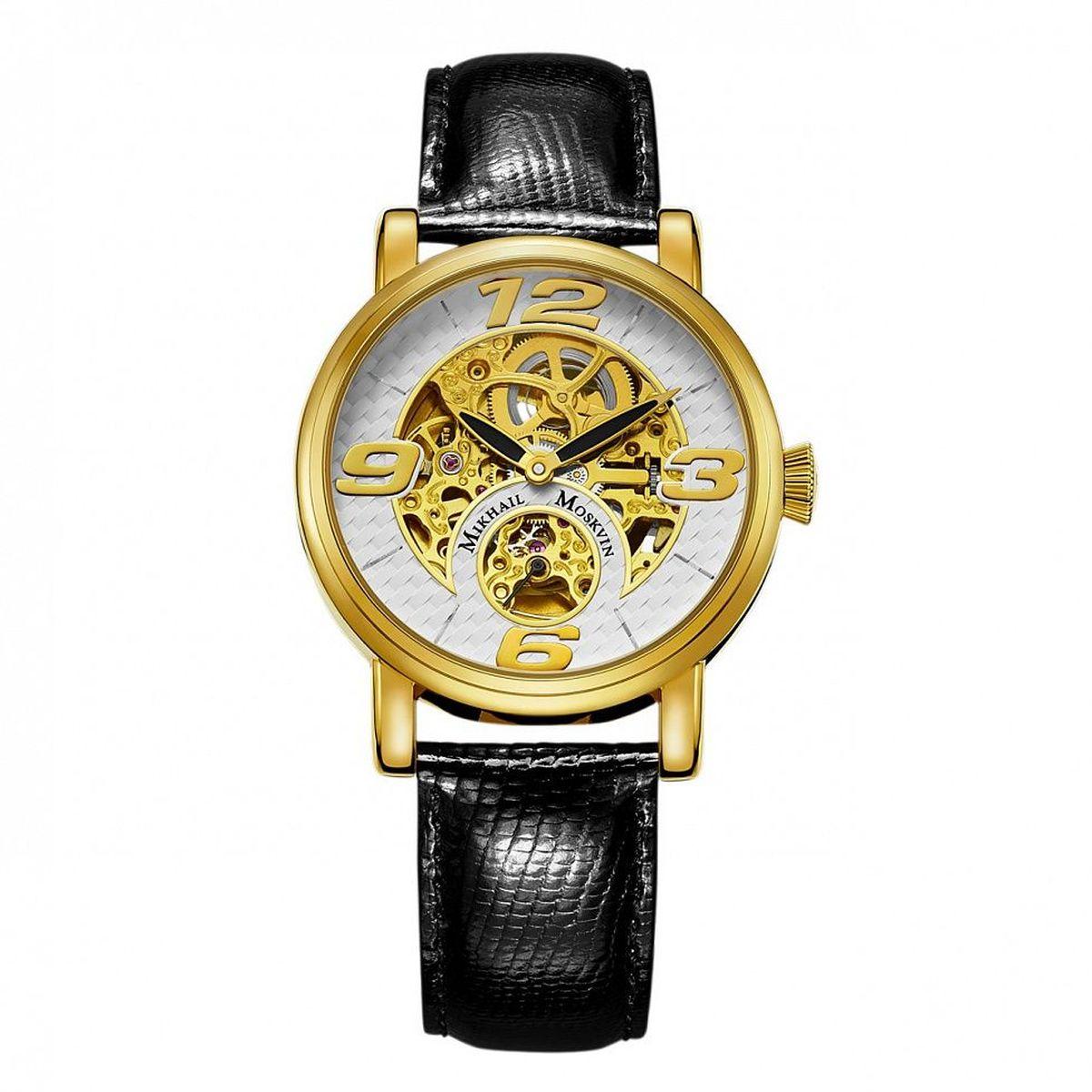 Zakazat.ru Часы наручные мужские Mikhail Moskvin Премьер, цвет: золотой, черный. 1233A2L2