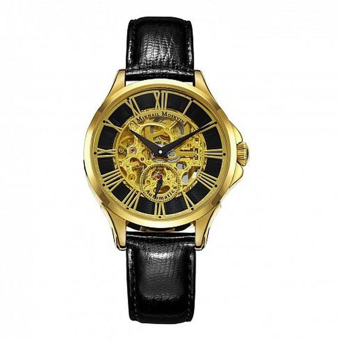 Zakazat.ru Часы наручные мужские Mikhail Moskvin Премьер, цвет: золотой, черный. 1234A2L2
