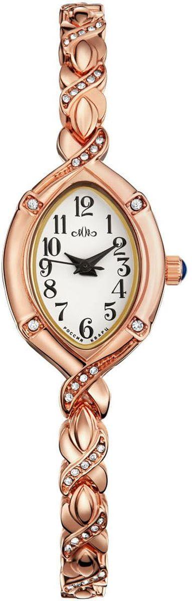 Часы наручные женские Mikhail Moskvin Каприз, цвет: золотой. 547-8-1BM8434-58AEНаручные кварцевые часы Mikhail Moskvin выполнены из высококачественного металла с напылением ионами розового золота. Браслет выполнен в виде косички, оформленной вставками из страз. Часы оснащены минеральным, устойчивым к царапинам, стеклом и задней крышкой из гипоаллергенной нержавеющей стали.
