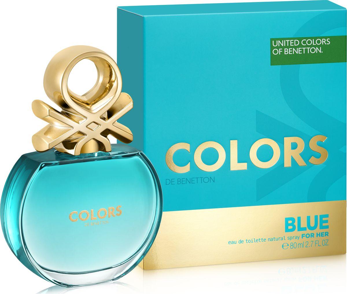 Benetton Colors Blue Туалетная вода женская 80 мл5010777139655Аромат в бирюзовом флаконе раскрывается яркой, искристой смесью севильского апельсина и энергичного юдзу. Женственные ноты нероли и характерные ноты чая матэ наделяют его элегантностью, подчеркнутой прозрачной фрезией. В базе чистая и чувственная свежесть бобов тонка переплетается с характером кедра и тягучестью мускуса. Аромат с индивидуальностью. Совершенно неотразимый.Верхняя нота: Севильский апельсин, Лимон, ЮдзуСредняя нота: Апельсиновый цвет, Фрезия, МатэШлейф: Тонизирующие ноты матэ с ломтиком цитрусовых. Бодрящий, яркий, живойНанести на кожу, избегая попадания в глаза.