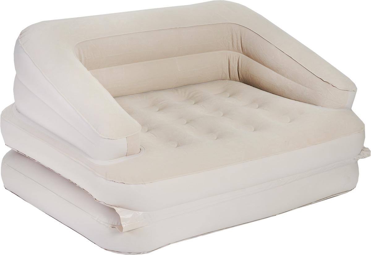 Кровать Relax Sofa Bed, трансформер, сэлектрическим насосом, цвет: бежевый, 205 см х 146 см67742Сдержанный дизайн, нейтральные цвета надувной кровати Relax Sofa Bed подойдут к любому интерьеру. Кровать проста в использовании, очень комфортна и не занимает много места при хранении. Кровать Relax Sofa Bed имеет водоотталкивающее флоковое покрытие, предотвращающее соскальзывание простыни.Компания Relax - это широкий ассортимент продукции высокого качества, которая продается во многих странах мира.Особенности кровати:Легко накачивается с помощью встроенного ножного насоса 220В (время накачивания - 3 минуты).Легко складывается для хранения и переноски: конструкция с внутренним каркасом для жесткости.Лучший выбор для путешествий и кемпинга.Данная модель может использоваться в качестве матраса, кровати или кресла. Всего предусмотрено 5 различных конфигураций.Удобна для использования как внутри помещения, так и снаружи. Сумка для переноски и хранения в комплекте. Самоклеящаяся заплатка. Размер спального места: 205 х 146 см.Высота кровати: 23 см.