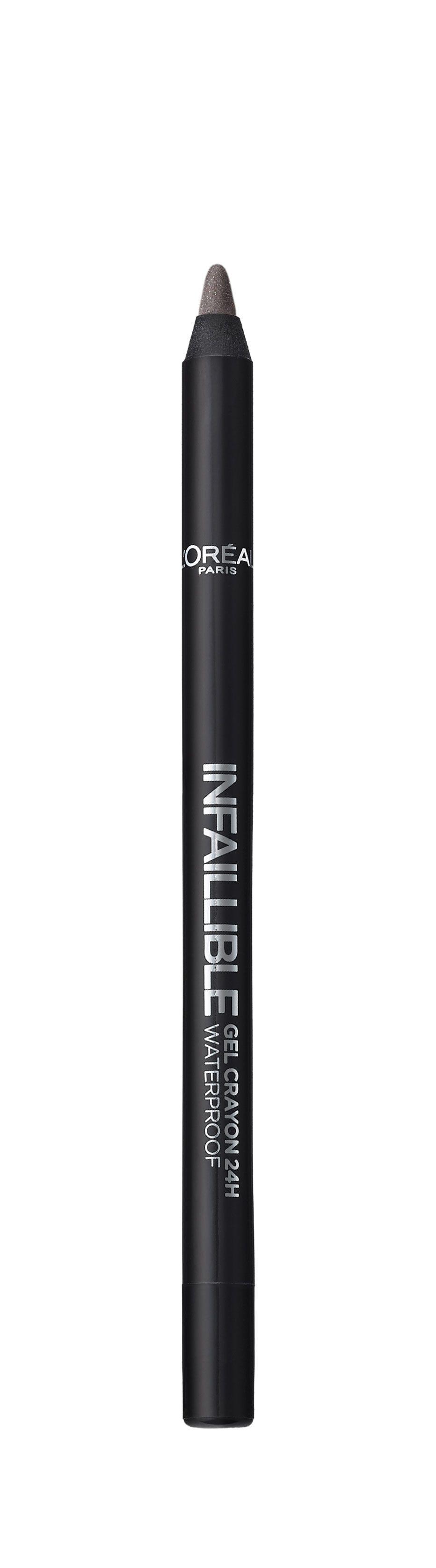 LOreal Paris Стойкий гелевый карандаш для глаз Infaillible, Оттенок 4, На серой высоте28032022Насыщенные пигменты и гелевая основа карандаша способствуют точному нанесению и устойчивому водостойкому результату на 24 часа. Множество оттенков – от базовых до самых ярких – для разнообразных вариантов макияжа.