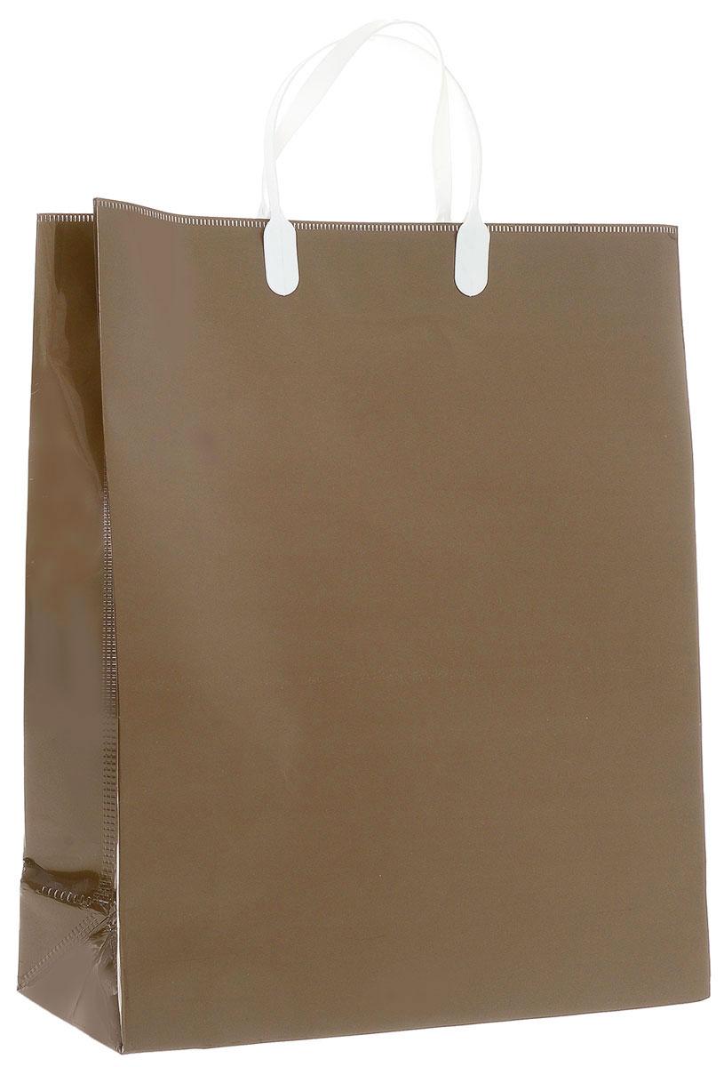 Пакет подарочный Bello, цвет: коричневый, 40 х 32 х 10 см. SBUL1009840-20.000.00Подарочный пакет Bello, изготовленный из полипропилена, станет незаменимым дополнением к выбранному подарку. Дно изделия укреплено картоном, который позволяет сохранить форму пакета и исключает возможность деформации дна под тяжестью подарка. Для удобной переноски на пакете имеются две пластиковые ручки.Подарок, преподнесенный в оригинальной упаковке, всегда будет самым эффектным и запоминающимся. Окружите близких людей вниманием и заботой, вручив презент в нарядном, праздничном оформлении.Грузоподъемность: 12 кг.Морозостойкость: до -30°С.