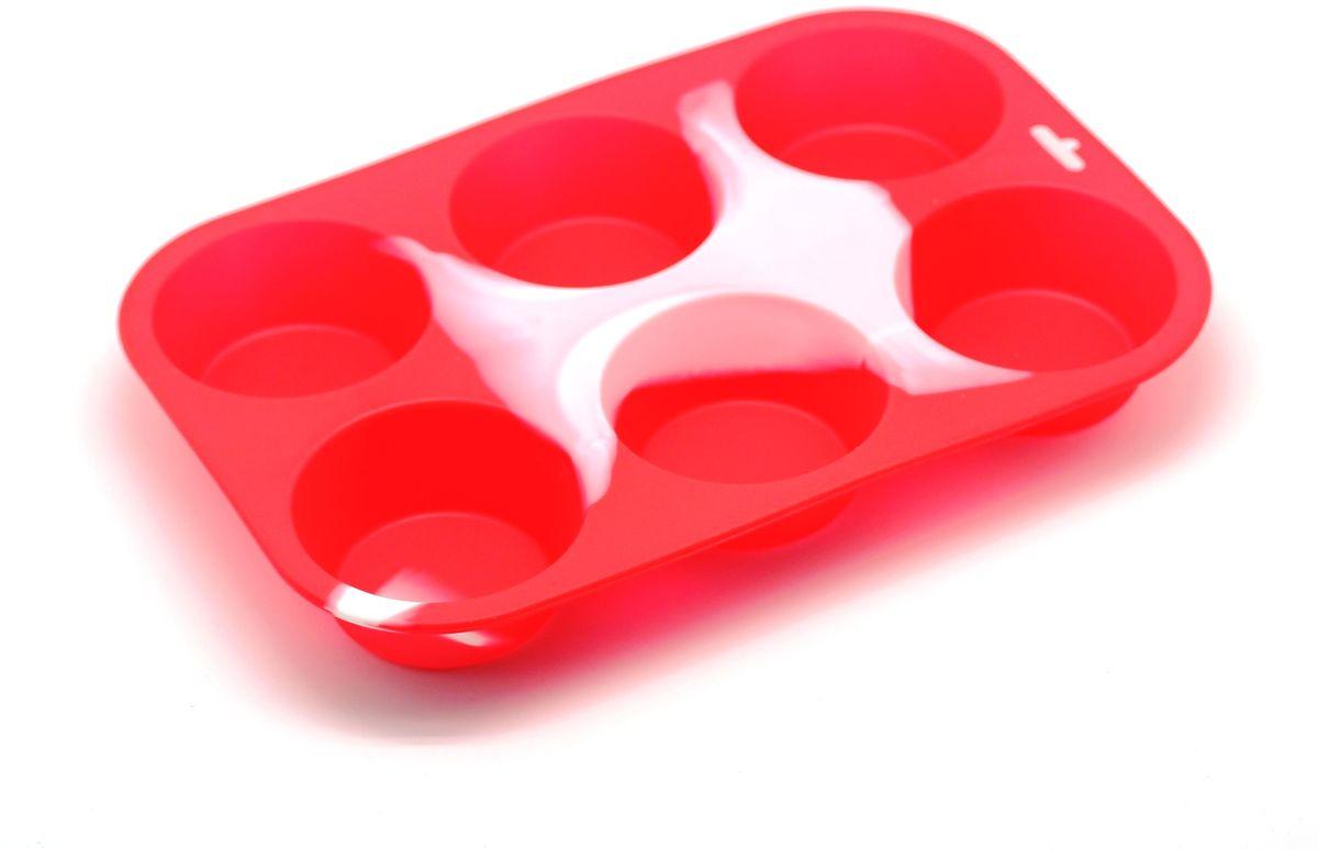 Форма для выпечки Atlantis Маффин, 31,8 х 21,6 х 3,8 см. SC-BK-001M-L54 009312Форма для выпечки силиконовая Atlantis Маффин — это отличная форма для выпекания кексов, которая сделана из пищевого силикона. Посуда идеально подходит для выпекания различной выпечки, ведь форма предотвращает тесто от «вытекания», при этом, предоставляя возможность с легкостью извлечь готовую выпечку и получить на ней красивый рисунок. Пищевой силикон абсолютно безопасен и не вступает в реакцию с продуктами, а так же не влияет на запах и вкус готового изделия.