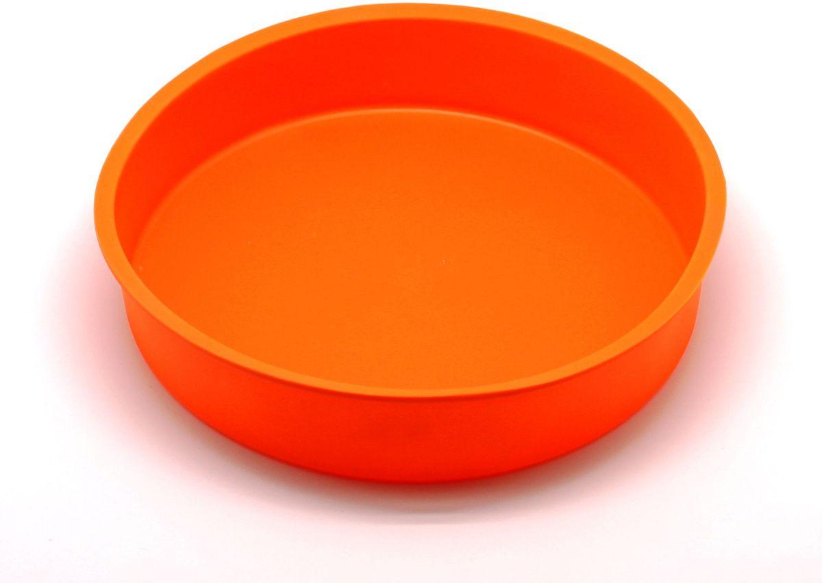 Форма для выпечки Atlantis Торт, цвет: оранжевый, диаметр 24,8 см. SC-BK-004-O54 009312Форма для выпечки силиконовая Atlantis— это отличная форма для выпекания пирога, которая сделана из пищевого силикона. Посуда идеально подходит для выпекания различной выпечки, ведь форма предотвращает тесто от «вытекания», при этом, предоставляя возможность с легкостью извлечь готовую выпечку и получить на ней красивый рисунок. Пищевой силикон абсолютно безопасен и не вступает в реакцию с продуктами, а так же не влияет на запах и вкус готового изделия.