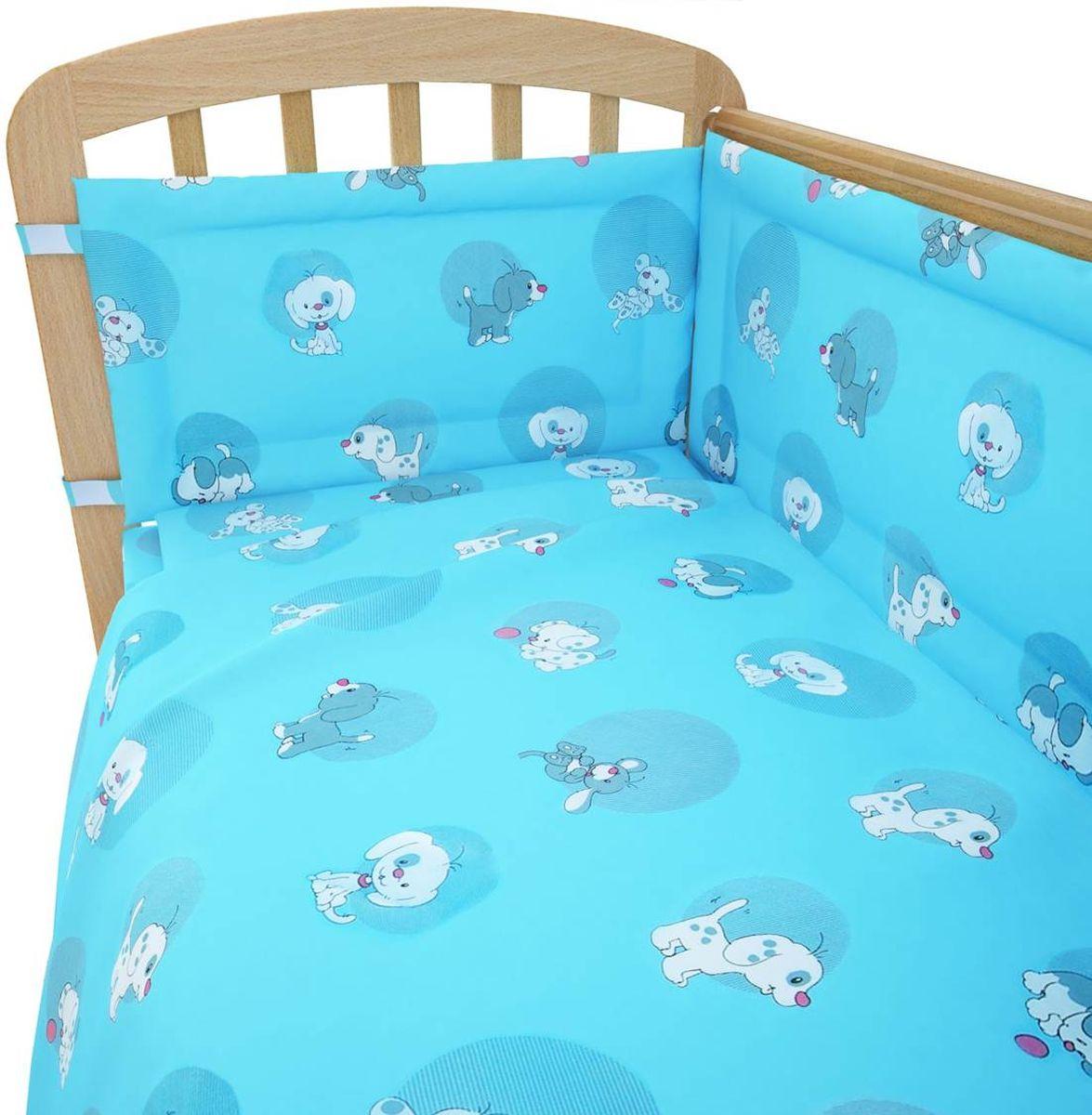 Фея Комплект белья для новорожденных Наши друзья цвет голубой 6 предметов1065-1