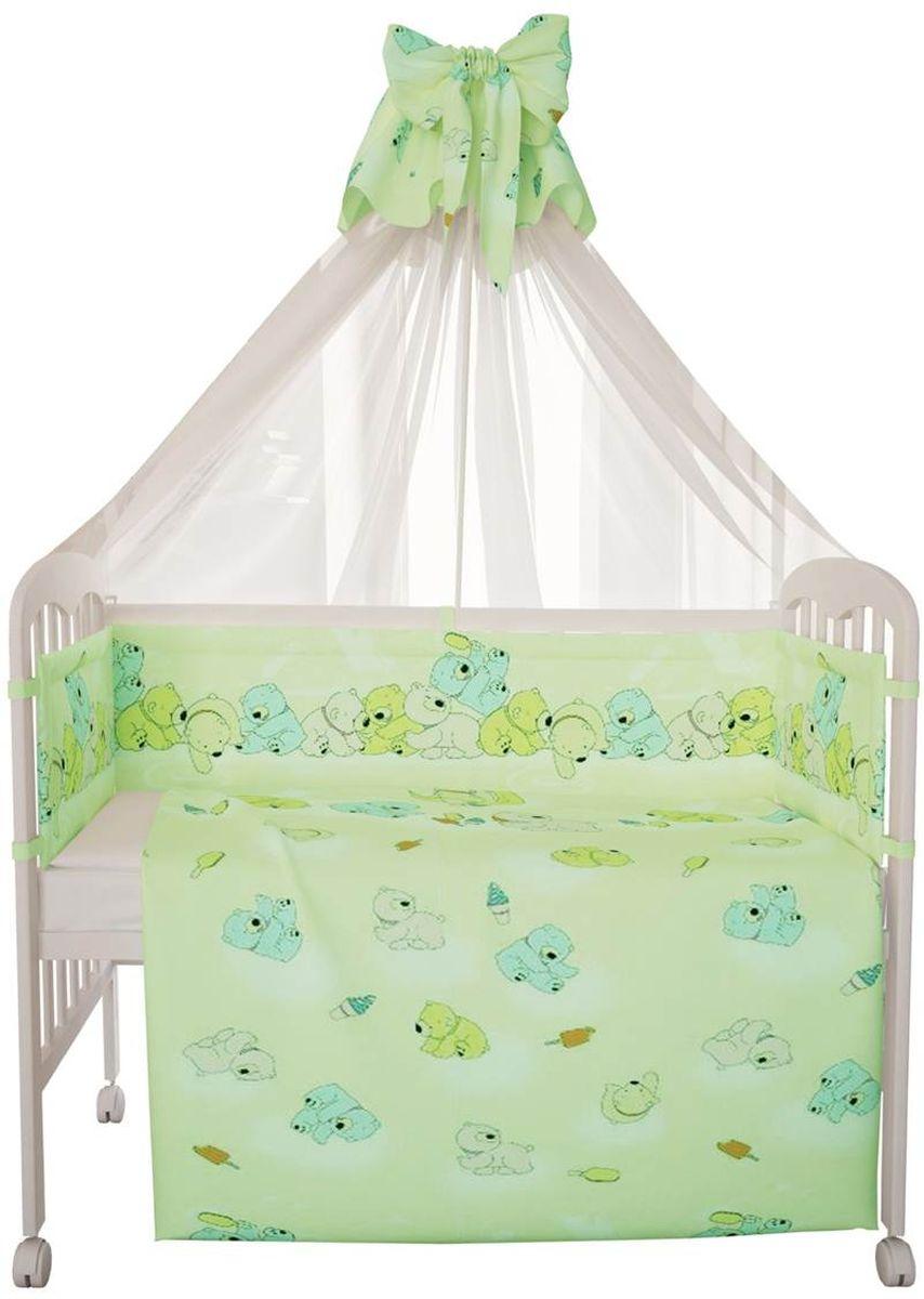 Фея Комплект белья для новорожденных Мишки цвет зеленый 10 предметов1068-4