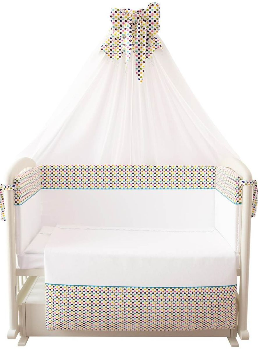 Фея Комплект белья для новорожденных Конфетти цвет белый 7 предметов1094