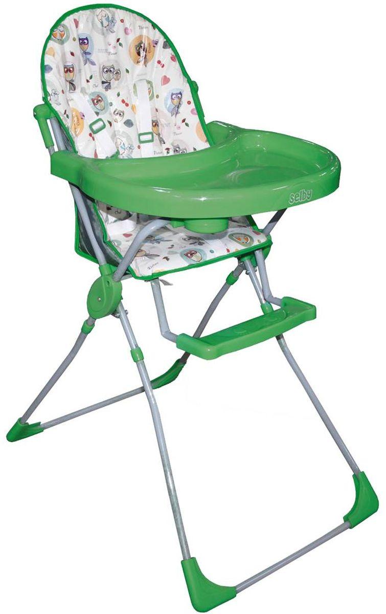 Selby Стульчик для кормления Совы цвет зеленый 1290-05