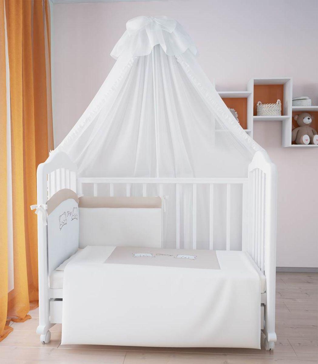 Fairy Комплект белья для новорожденных цвет бежевый коричневый 7 предметов5585-01