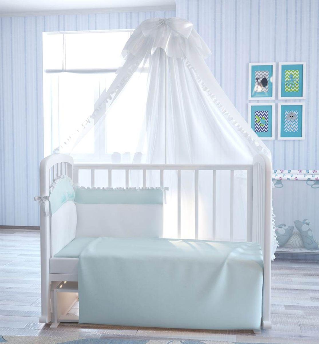 Fairy Комплект белья для новорожденных Сладкий сон цвет белый голубой 7 предметов5618