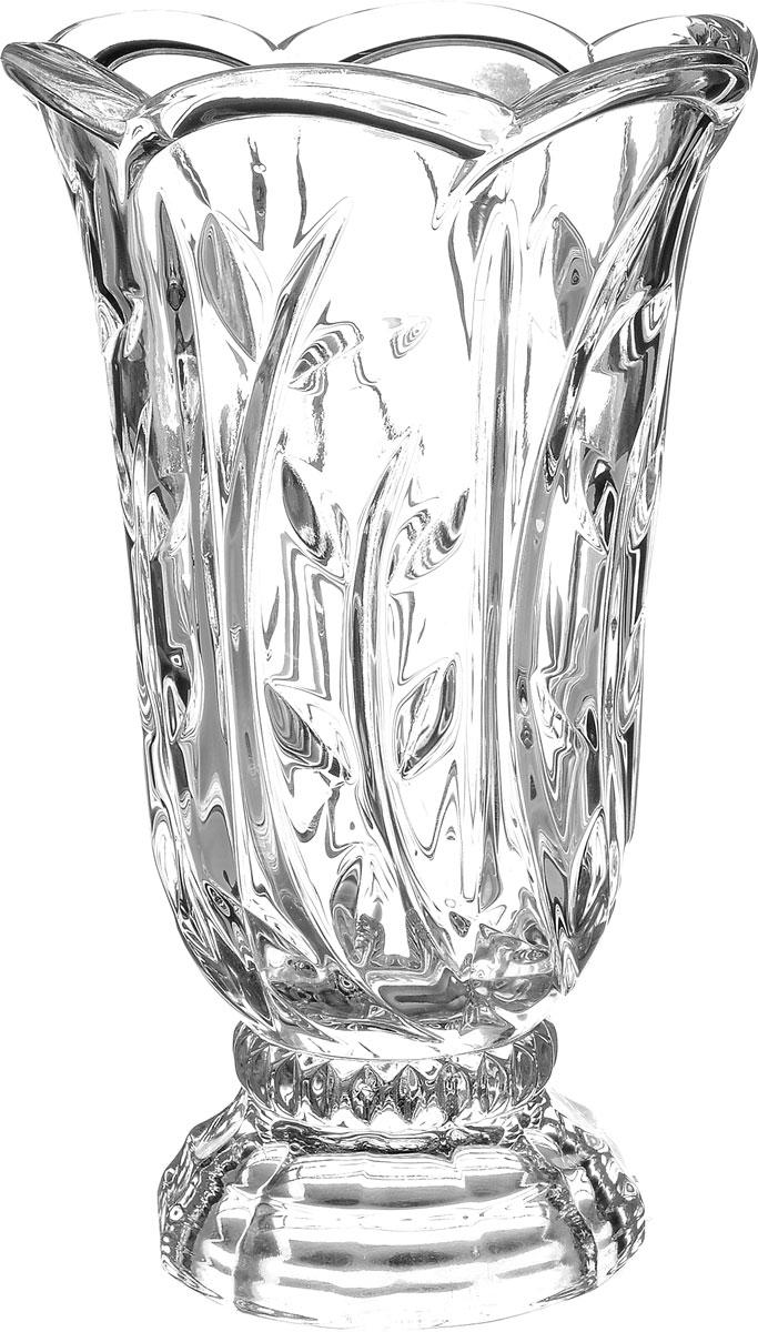 Ваза Crystal Bohemia Oasis, высота 22 см98298123_черныйЭлегантная ваза Crystal Bohemia Oasis выполнена из настоящего чешского хрусталя с содержанием 24% оксида свинца, что придает изделию поразительную прозрачность и чистоту, невероятный блеск, присущий только ювелирным изделиям, особое, ни с чем не сравнимое светопреломление и игру всеми красками спектра как при естественном, так и при искусственном освещении.Такая ваза подойдет для декора интерьера. Кроме того - это отличный вариант подарка для ваших близких и друзей.Высота вазы: 22 см.Диаметр вазы (по верхнему краю): 12 см.Объем вазы: 1,4 л.
