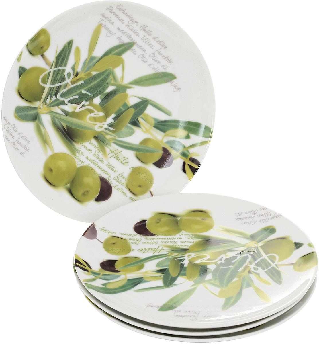 Набор тарелок Nuova R2S Оливки, диаметр 20 см, 4 шт11390_вид 2Набор Nuova R2S Оливки состоит из четырех тарелок, выполненных из высококачественного фарфора. Изделия декорированы красочными изображением оливок. Такой набор изящно украсит сервировку стола и порадует вас дизайном.