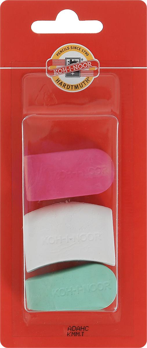 Koh-i-Noor Набор ластиков цвет красный белый зеленый 3 шт72523WDЛастики Koh-i-Noor идеально подходят для применения как в школе, так и в офисе.Ластики обеспечивают высокое качество коррекции, не повреждают поверхность бумаги, даже при сильном трении не оставляют следов.Абсолютно безопасны, не токсичны и экологичны.В упаковке 3 ластика.